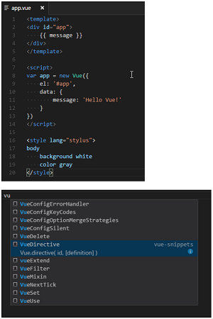 Vue 2 Snippets