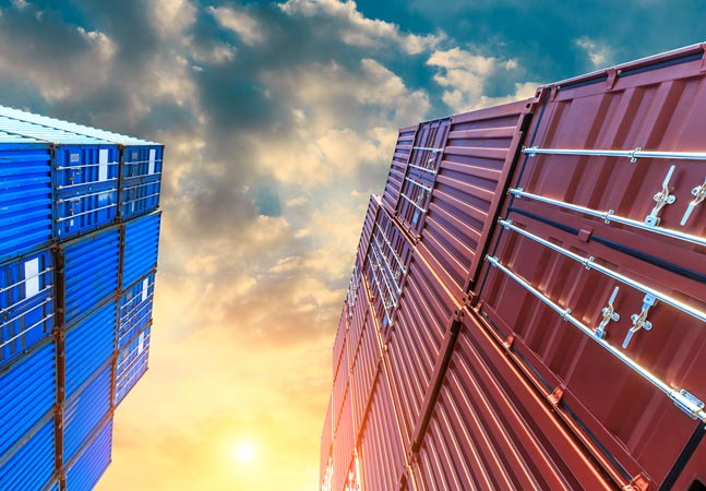 Containers Upward View Graphic