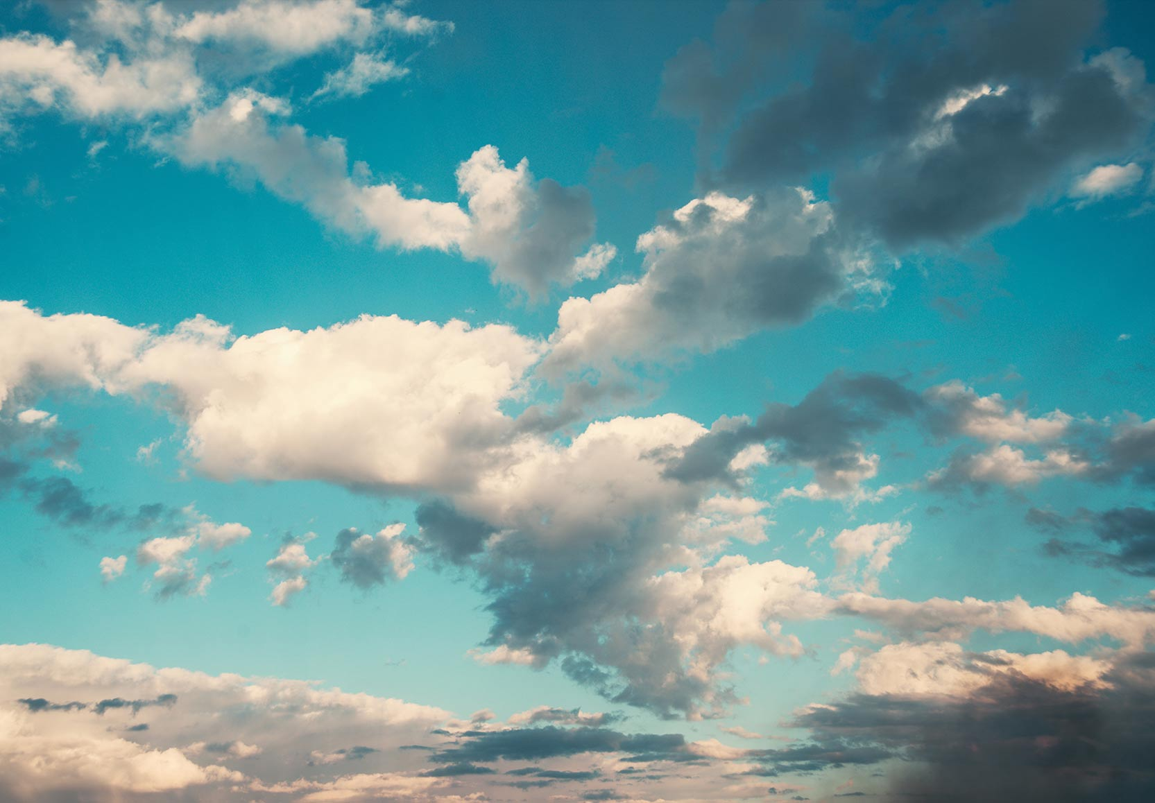 Blue Sky and Clouds Graphic