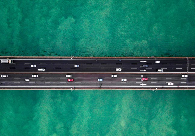 Freeway Over Ocean Graphic
