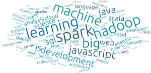 Weighted Tag Cloud Showing Tools To Be Learned in Next Six Months