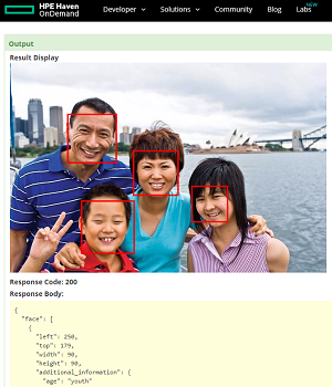 Face Recognition with HPE Haven OnDemand