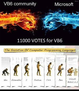 A Graphic Accompanying a UserVoice Post Asking To Bring Back VB6