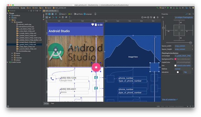 Android Studio 2.2 Released with Nougat Support, Layout Editor -- ADTmag
