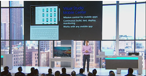 Nat Friedman Introducing Visual Studio Mobile Center at Connect();