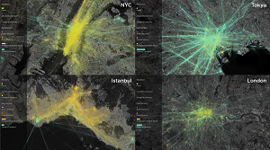 Mapping the Pulse of New York, Tokyo, Istanbul and London As Seen from Mobile Phones