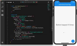 Flutter in Animated Action, Showing Hot Reload