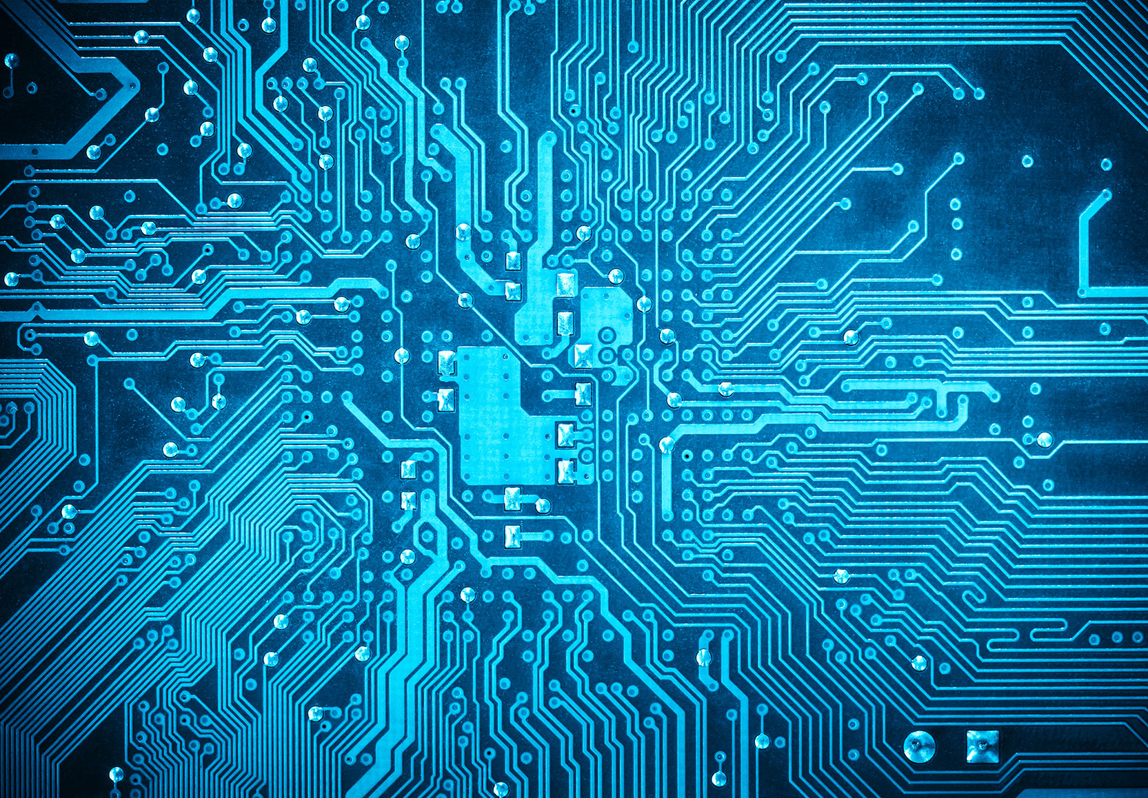 Blue Circuitboard Graphic