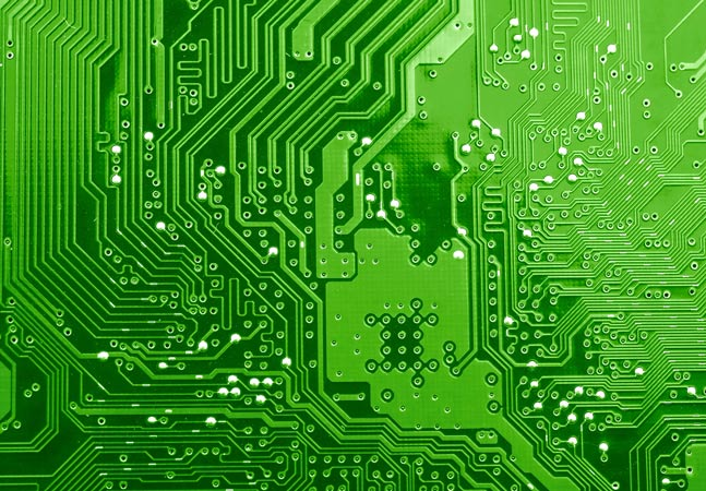 Green Motherboard Closeup Graphic
